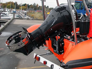 Propellor Guard on a small outboard motor from an dinghy
